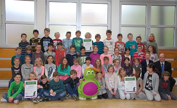 Drittklässler der Grundschule Wallhausen