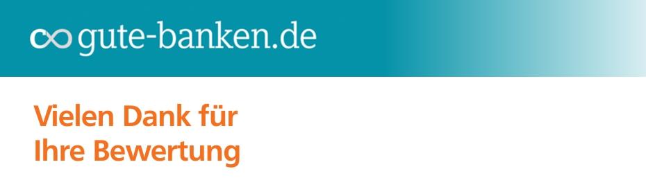 Bewerten Sie uns jetzt auf gutebanken.de
