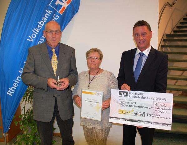 Platz 3 bei Sterne des Sports 2015: Tennisclub Weinsheim e.V.
